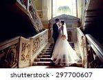Wedding Couple Indoors Is...