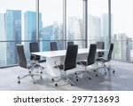 panoramic conference room in... | Shutterstock . vector #297713693