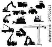 set of heavy construction... | Shutterstock .eps vector #297730523