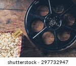 cinema concept with vintage... | Shutterstock . vector #297732947