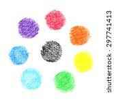 Set Of Vector Handmade Crayon...