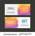 gift voucher watercolour .   Shutterstock .eps vector #297743777