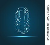 vector letter o logo  sign ... | Shutterstock .eps vector #297746093
