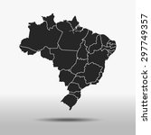 map of brazil | Shutterstock .eps vector #297749357
