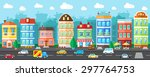 city street with urban... | Shutterstock .eps vector #297764753