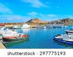 castelsardo harbor on a clear... | Shutterstock . vector #297775193