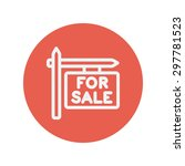 for sale sign thin line icon... | Shutterstock .eps vector #297781523