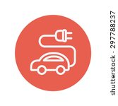electric car thin line icon for ... | Shutterstock .eps vector #297788237
