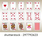 Hearts Playing Cards Set