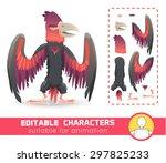 big monster bird with huge beak ... | Shutterstock .eps vector #297825233