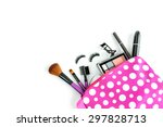 make up bag with cosmetics and... | Shutterstock . vector #297828713