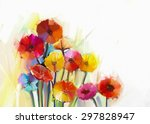 abstract oil painting of spring ... | Shutterstock . vector #297828947