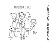 coworking center. people... | Shutterstock .eps vector #297833843