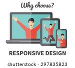 responsive web design ... | Shutterstock .eps vector #297835823