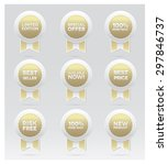 set of golden vector badges | Shutterstock .eps vector #297846737