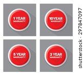 set of warranty  red vector... | Shutterstock .eps vector #297847097