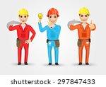 set of technical  electrician... | Shutterstock .eps vector #297847433