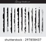 grunge brush strokes .grunge... | Shutterstock .eps vector #297858437
