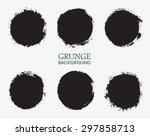 grunge circles set.grunge round ... | Shutterstock .eps vector #297858713