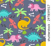 vector seamless pattern with... | Shutterstock .eps vector #297859517