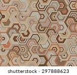hexagon pattern   Shutterstock .eps vector #297888623