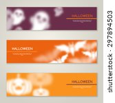 halloween horizontal banners or ... | Shutterstock .eps vector #297894503