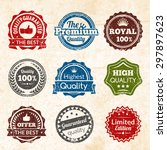 vintage highest guaranteed... | Shutterstock .eps vector #297897623