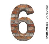 one digit from old brick...   Shutterstock . vector #29789950