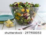 Glass Bowl Filled With Organic...
