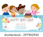 happy birthday  for kids.    Shutterstock .eps vector #297902933