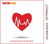 heart pulse icon | Shutterstock .eps vector #297909227