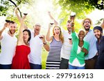friends friendship celebration... | Shutterstock . vector #297916913