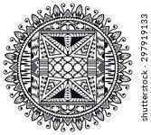 black and white mandala ... | Shutterstock .eps vector #297919133