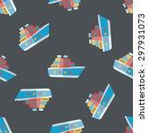 transportation ferry flat icon... | Shutterstock .eps vector #297931073