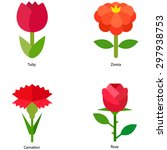 flower vector icons | Shutterstock .eps vector #297938753
