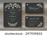 unique vector wedding cards...   Shutterstock .eps vector #297939833