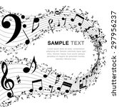 musical design elements from... | Shutterstock .eps vector #297956237