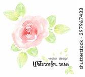 watercolor roses  vector design ... | Shutterstock .eps vector #297967433