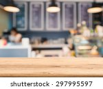 Wooden Counter Top With Bakery...