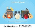 Постер, плакат: Musical Instruments Set Guitar