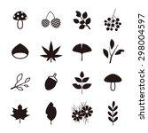 autumn icon set | Shutterstock .eps vector #298004597