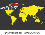 an illustrated map of the world ... | Shutterstock . vector #298009703