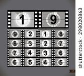 film countdown numbers. vector... | Shutterstock .eps vector #298020863