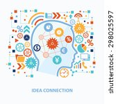 idea connection concept design... | Shutterstock .eps vector #298025597