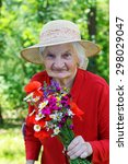 Beautiful Elderly Woman ...