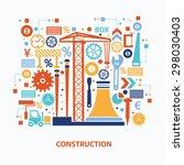 construction concept design on... | Shutterstock .eps vector #298030403