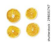 Dried Slices Of Orange Isolate...