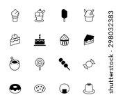 set of black dessert icons....   Shutterstock .eps vector #298032383