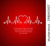 illustration of life line... | Shutterstock .eps vector #298043507