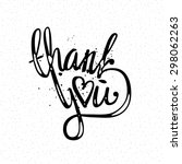 'thank you' hand lettering  ... | Shutterstock .eps vector #298062263